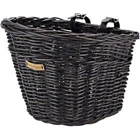 Basil Darcy Rotan L Front Wheel Basket, nature melee black